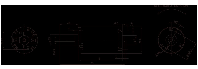 DC-Motor_RH-477_Outline绘图